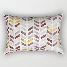 Modern Herringbone Chevron Pattern Painting Rectangular Pillow