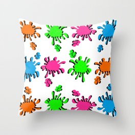 Colorful Spats Throw Pillow