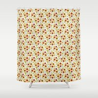 spice Shower Curtains featuring Sugar & Spice by Sugarplum Paperie