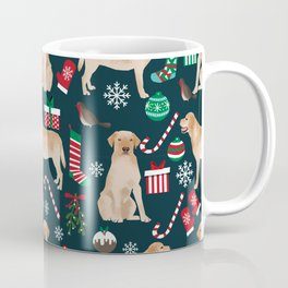 Yellow Labrador retriever christmas festive holiday gifts for dog person dog lover labrador retrieve Coffee Mug