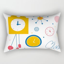 Clocks Rectangular Pillow