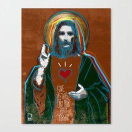 Jesus Christ: Daily Bread - Brown Canvas Print