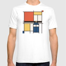 Mondrian Who White Mens Fitted Tee MEDIUM