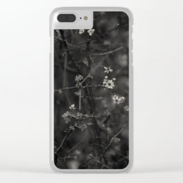 first blossoms - black'n white Clear iPhone Case