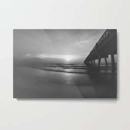 Pier and Surf Metal Print