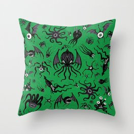 Cosmic Horror Critters Throw Pillow