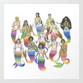 armed mermaids Art Print