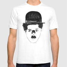Charlie Chaplin Mens Fitted Tee White MEDIUM