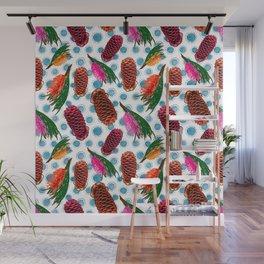 Beautiful Australian Native Floral Print - Grevillea and Beehive Ginger Wall Mural