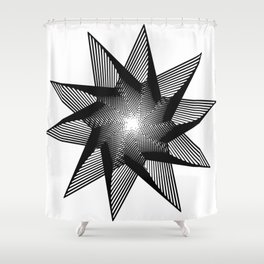 10 Pointed Star Shower Curtain