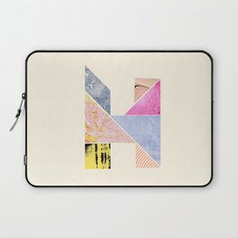 Collaged Tangram Alphabet - H Laptop Sleeve