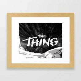"""Fan Art - John Carpenter's """"THE THING"""" Framed Art Print"""