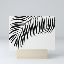 Tropical Palm Frond: Black & White Mini Art Print