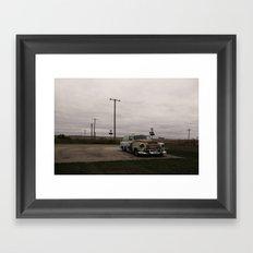 Ran when parked Framed Art Print