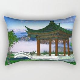 Pagoda Fantasy Scene Rectangular Pillow