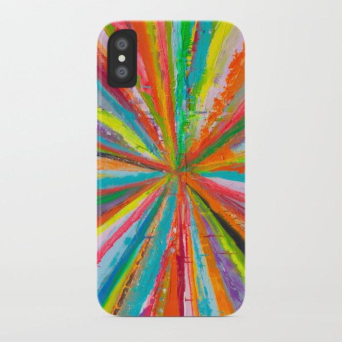 Exploding Rainbow iPhone Case