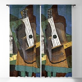 Pablo Picassso Guitar, Clarinet and Bottle Blackout Curtain