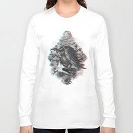 Vulture anaglyph 3D Long Sleeve T-shirt