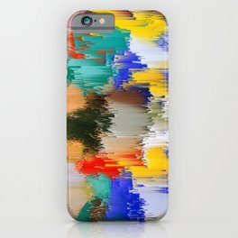 Abstract Glitch Pixel Art 1 iPhone Case