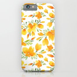 Watercolor california poppies bouquet iPhone Case