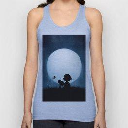 full moon snoopy charlie brown Unisex Tank Top