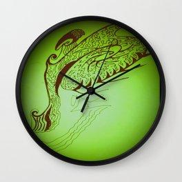 Encre sur une danse d'éventail Wall Clock