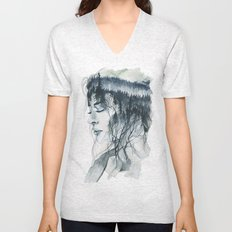 Into thick woods alone Unisex V-Neck