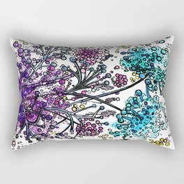Purple floral watercolor abstraction Rectangular Pillow
