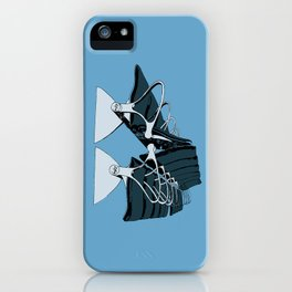 AirportChairs Blue iPhone Case