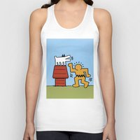 keith haring Tank Tops featuring Keith Haring + Charles Schulz by Jared Yamahata