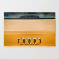 audi Canvas Prints featuring Audi S4 rings by JPapagoda