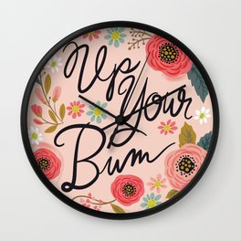 Pretty Swe*ry: Up Your Bum Wall Clock
