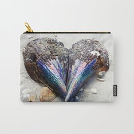 Heart Shell on Sand Carry-All Pouch