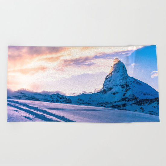 Mountain Peak (Morning Light) Beach Towel