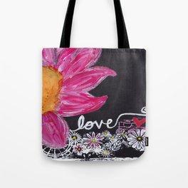 PINK FLOWER LOVE Tote Bag