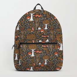 Autumn Foxes in the Forest Backpack