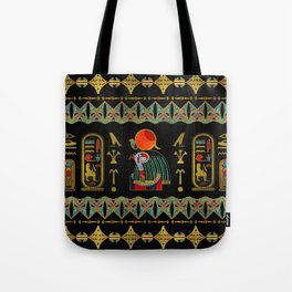 Egyptian Horus Ornament in colored glass and gold Tote Bag