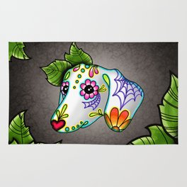 Dachshund - Day of the Dead Sugar Skull Wiener Dog Rug
