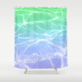 Cloud 9 (Blue x Green) Shower Curtain