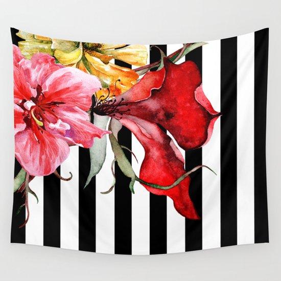 FLORA BOTANICA | stripes Wall Tapestry