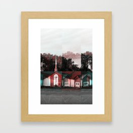 A Church (Extreme Holga Effect) Framed Art Print