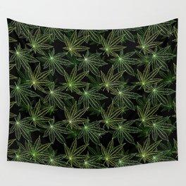 Cannabis Leaf (Black Glow) - Camo Wall Tapestry
