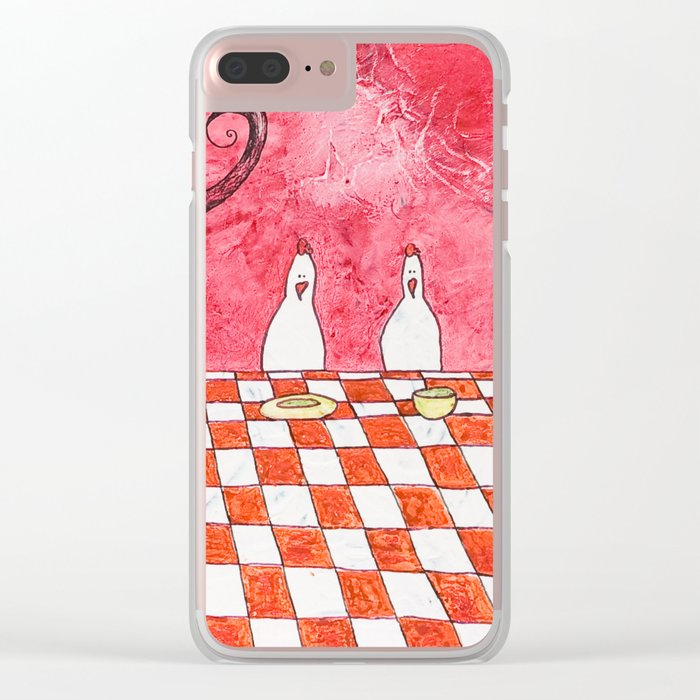 The Tale's Hens Clear iPhone Case