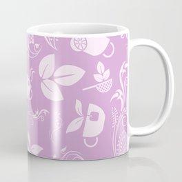 Cup Leaves Plant Strainer Mug Flower Fashion Purple Gift Coffee Mug
