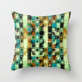 Graphics. The green squares. Throw Pillow