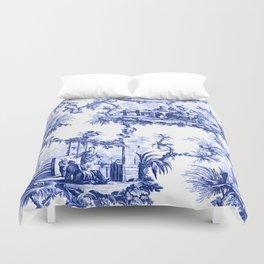 Blue Chinoiserie Toile Bettbezug