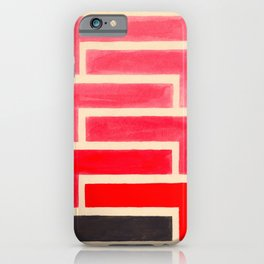 Geometric Pattern Watercolor Painting iPhone Case