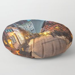 Twilight Hour - West Village, New York City Floor Pillow