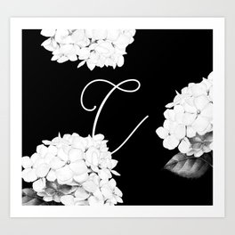 "Custom Bridesmaid Letter ""C"" Art Print"