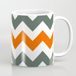 Chevron Pattern In Russet Orange Grey and White Coffee Mug
